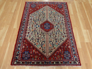 Persian Rug, 3' 8 x 5' 2 Red Abadeh
