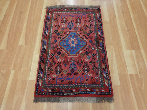 Persian Rug, 2' 6 x 4' 3 Rose Red Shiraz