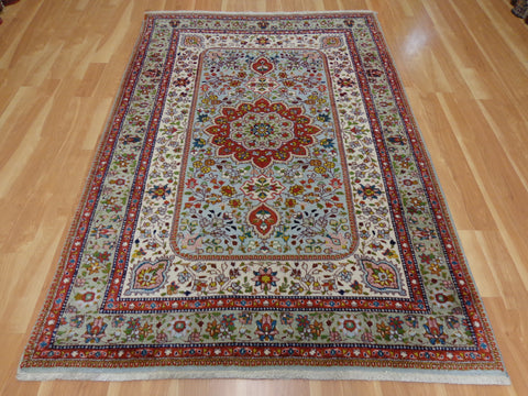 Persian Rug, 5' 1 x 7' 9 Blue Tabriz