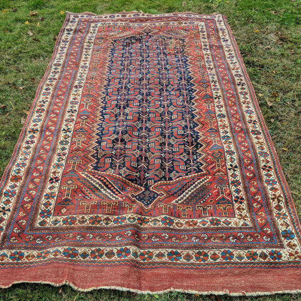Persian Rug, 5' x 8' 10 Red Tribal - Jessie's Oriental Rugs