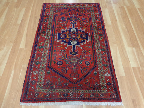 Persian Rug, 3' 5 x 5' 5 Red Hamedan