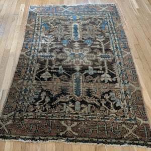 Antique Rug, 3' 11 x 6' 2 Brown - Jessie's Oriental Rugs
