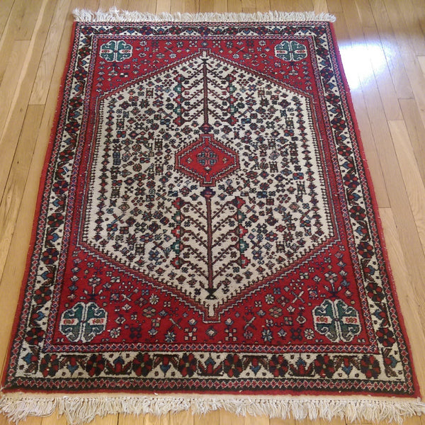 Persian Rug, 3' 4 x 5' 3 Ivory White Abadeh - Jessie's Oriental Rugs