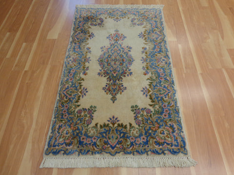 Persian Rug, 3' 1 x 5' 3 Cream Kirman