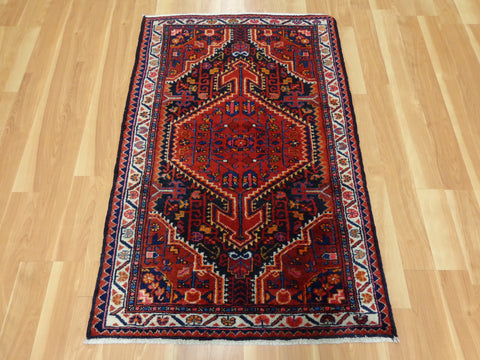Persian Rug, 3' x 4' 7 Red Hamedan