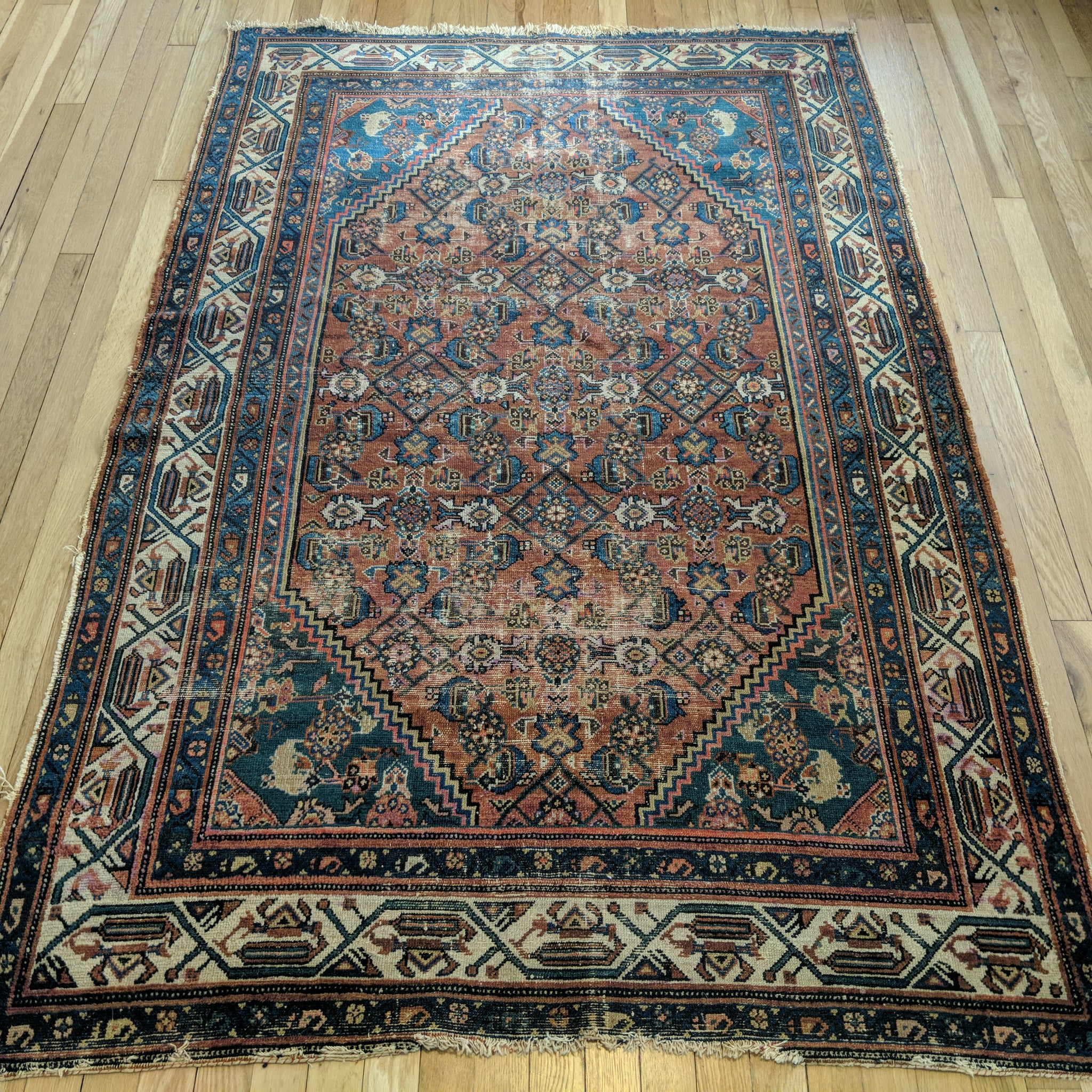 Persian Rug, 4' 3 x 6' 7 Brown Melayer