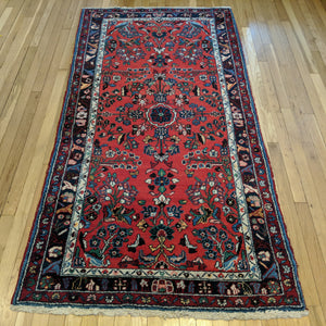 Persian Rug, 3' 7 x 7' Red Kapoutrang - Jessie's Oriental Rugs