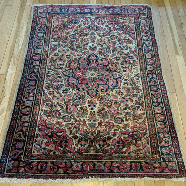 Persian Rug, 3' 8 x 5' Ivory Borchelou - Jessie's Oriental Rugs