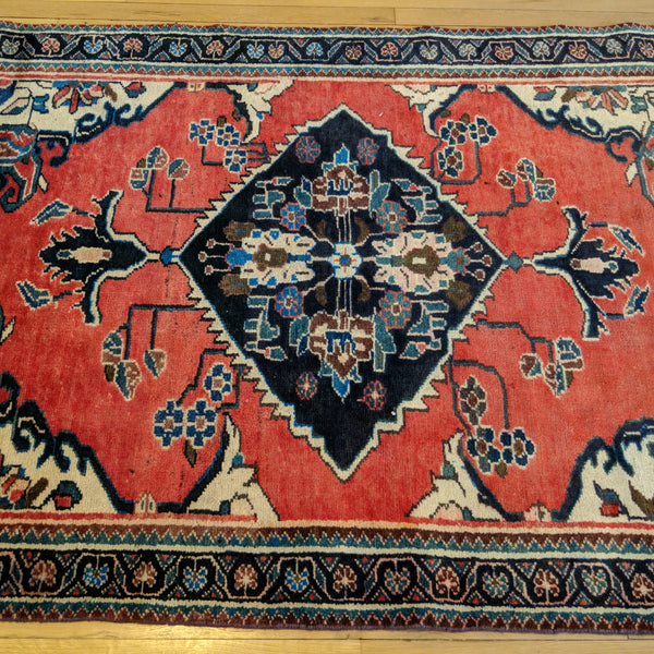 Persian Rug, 4' 5 x 6' 5 Red Bakhtiari