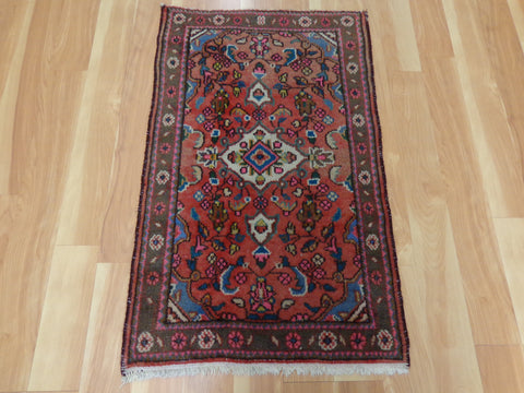 Persian Rug, 2' x 3' 3 Red Hamedan