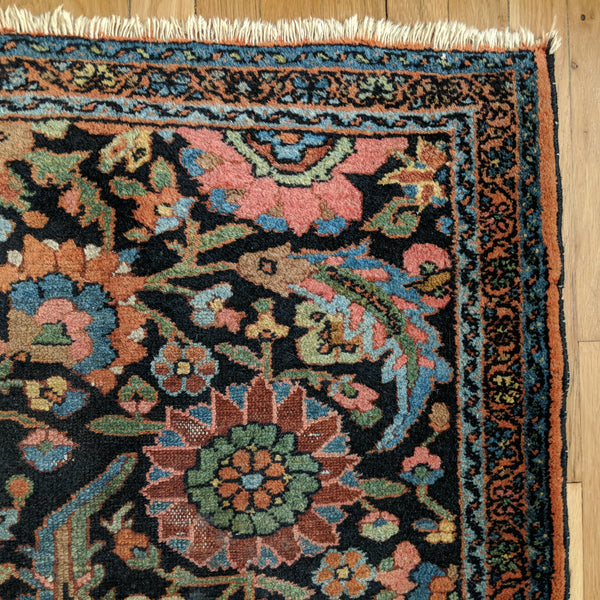 Persian Rug, 2' 8 x 5' Blue Melayer - Jessie's Oriental Rugs
