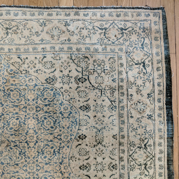 Antique Rug, 4' 6 x 6' 8 Light Blue - Jessie's Oriental Rugs