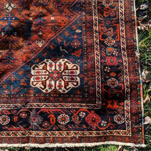 Vintage Rug, 5' 9 x 8' 7 Brown Tribal