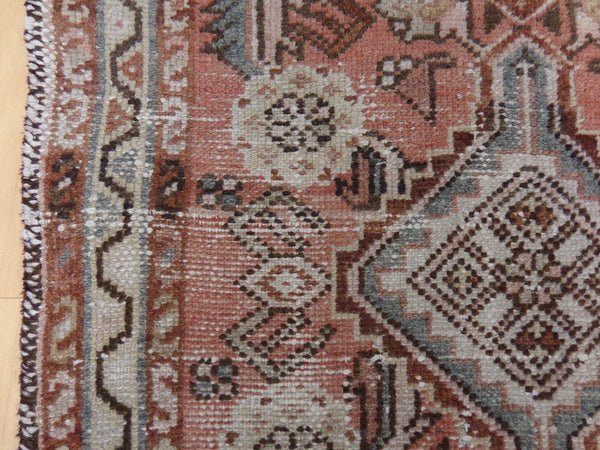 Persian Rug, 2' 4 x 4' 11 Soft Red Hamedan
