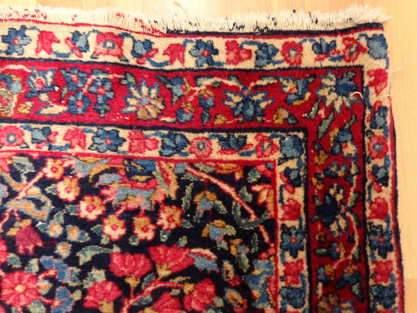 Persian Rug, 2' 10 x 9' 5 Blue Kirman Runner