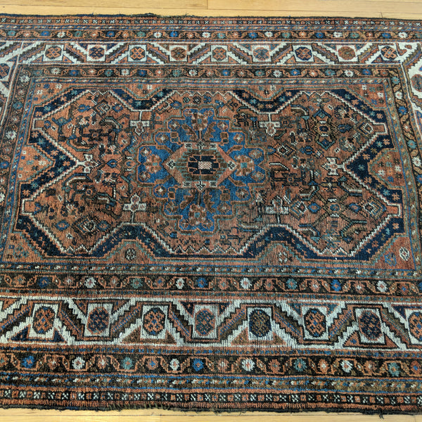 Vintage Rug, 4' 4 x 5' 9 Red Brown