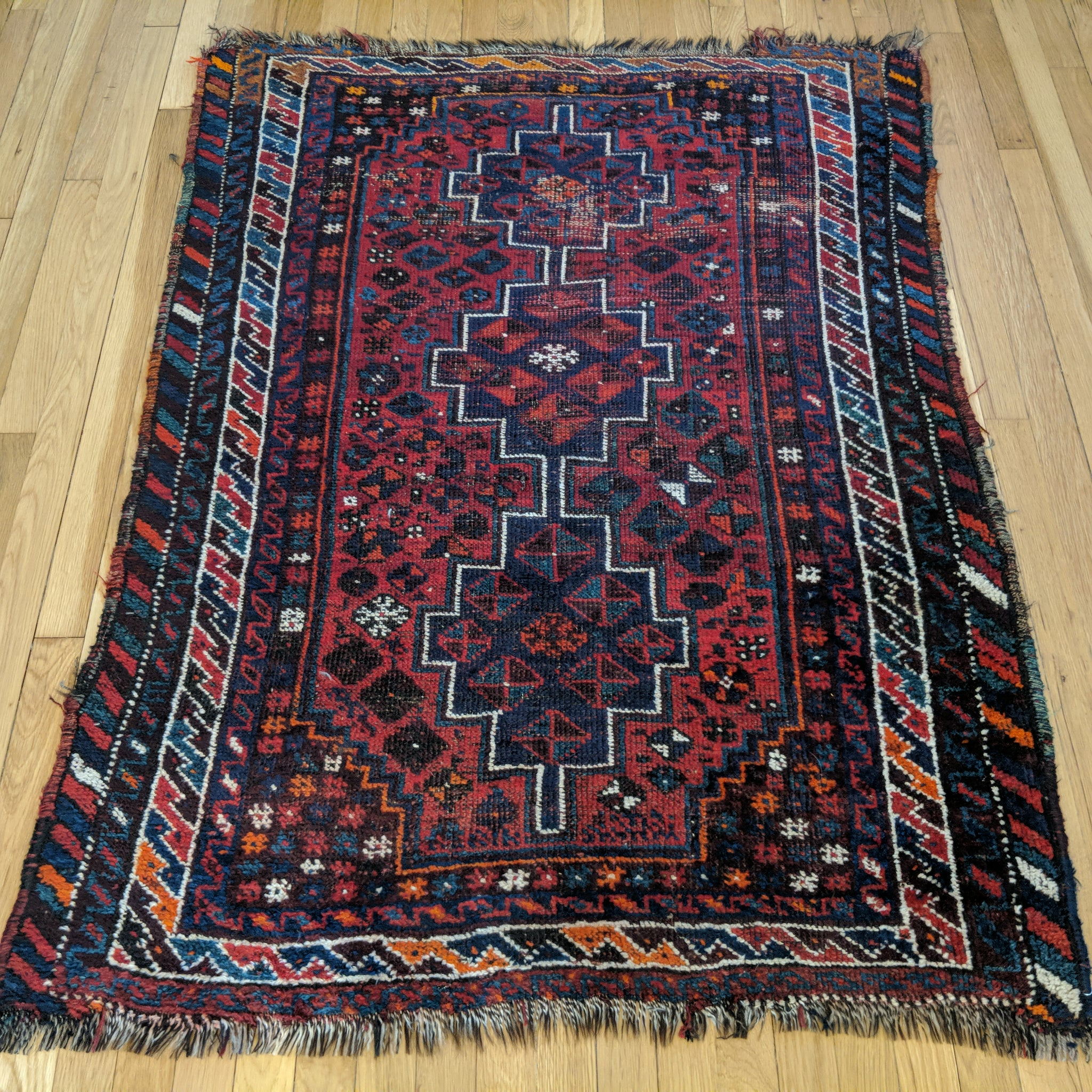 Persian Rug, 3' 9 x 5' Red Tribal