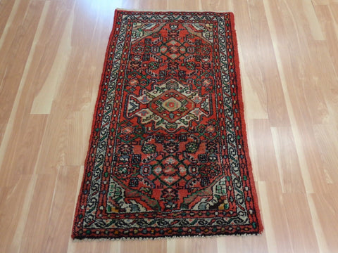 Persian Rug, 2' 7 x 4' 4 Red Hamedan
