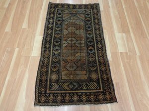 Baluch Oriental Rug, 2' 7 x 4' 9 Brown Prayer