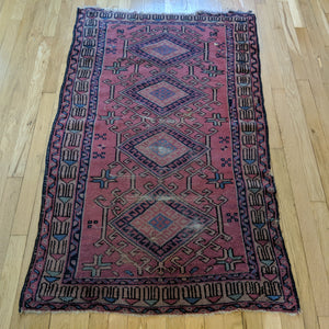Turkish Rug, 2' 11 x 4' 8 Purple Sparta