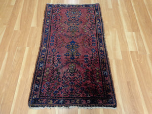 Persian Rug, 2' 9 x 4' 7 Purple Rose Lilihan