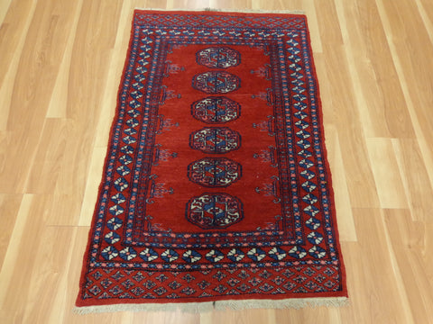 Pakistan Rug, 2' 8 x 4' 2  Red Bokhara