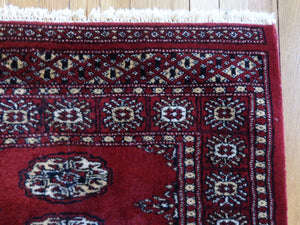 Bokhara Rug, 2' 7 x 4' 3 Red Pakistan