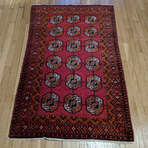 Bokhara Rug, 3' 1 x 4' 11 Red