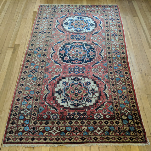 Vintage Rug, 3' 7 x 5' 11 Red Tribal