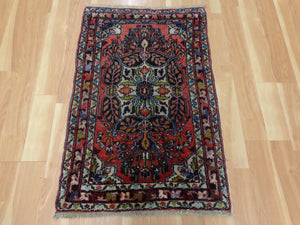 Persian Rug, 2' 2 x 3' 6 Red Hamedan