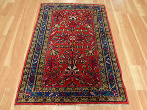 Persian Rug, 3' 7 x 5' 2 Red Lilihan