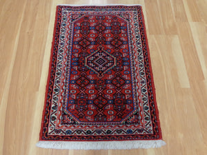 Persian Rug, 2' 2 x 3' 3 Red Hamedan