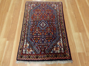 Persian Rug, 2' 3 x 3' 6 Red Bidjar