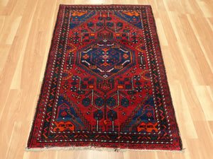 Persian Rug, 3' 4 x 5' Red Hamedan