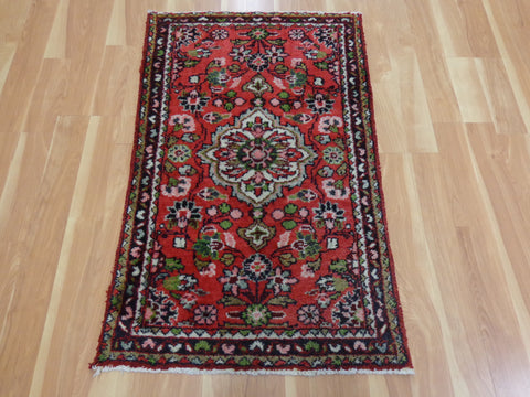 Persian Rug, 2' 7 x 4' 1 Red Dergazine