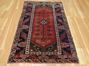 Turkish Rug, 4' x 6' 2 Green Bergama