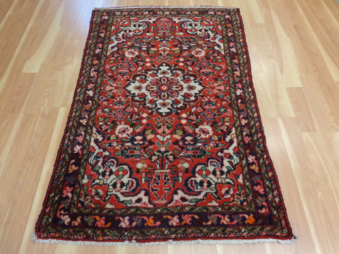 Persian Rug, 3' 9 x 5' 6 Red Borchelou