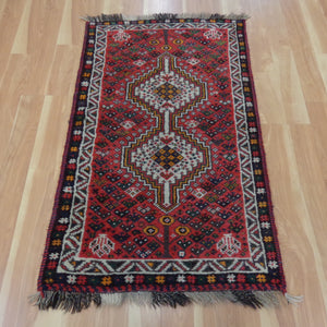 Persian Rug, 2' 7 x 4' 5 Red Shiraz - Jessie's Oriental Rugs