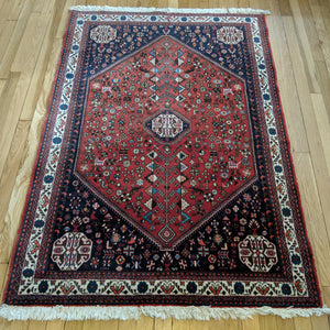 Persian Rug, 3' 6 x 5' 4 Red Abadeh - Jessie's Oriental Rugs