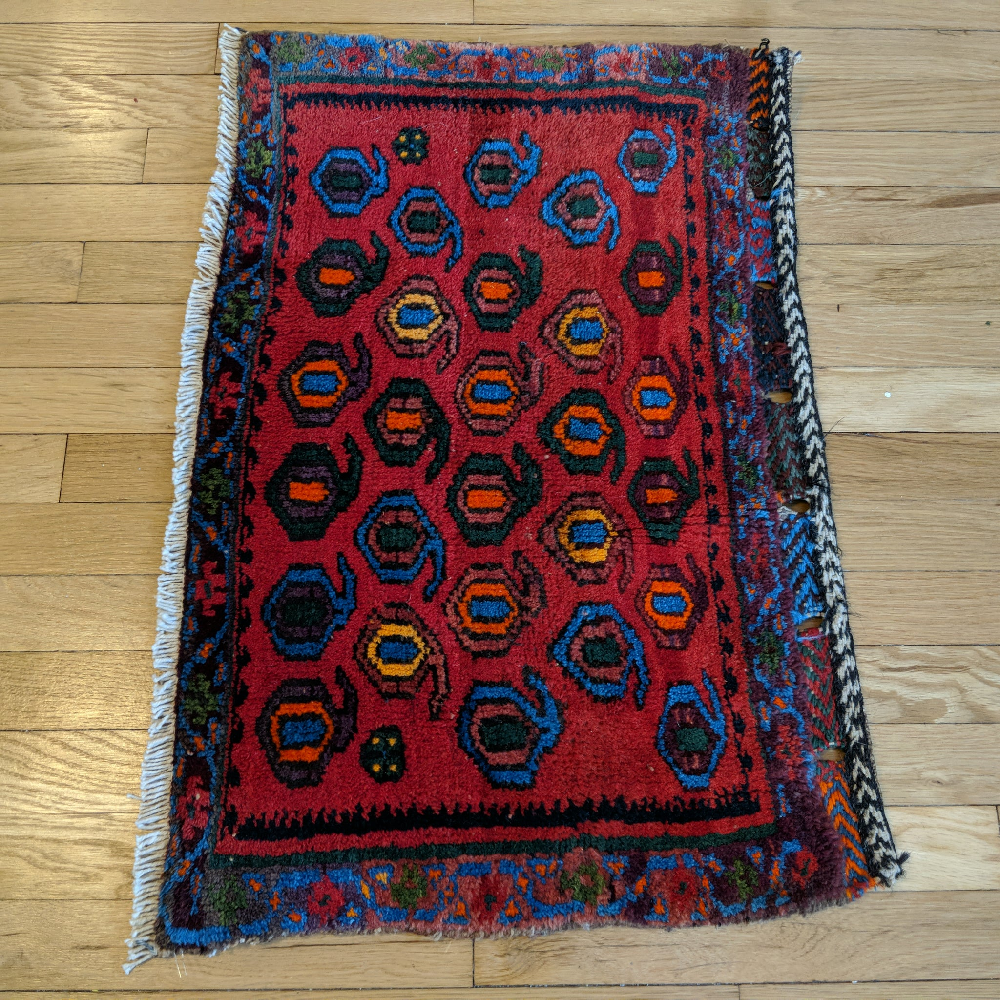 Persian Rug, 1' 9 x 2' 6 Red - Jessie's Oriental Rugs