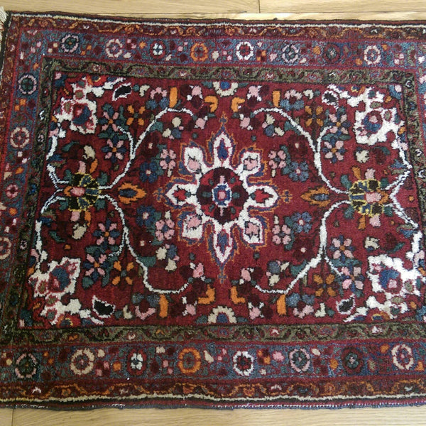 Persian Rug, 2' 4 x 3' Red Hamedan