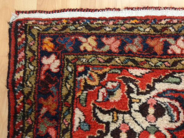 Persian Rug, 3' 9 x 5' 6 Red Borchelou - Jessie's Oriental Rugs