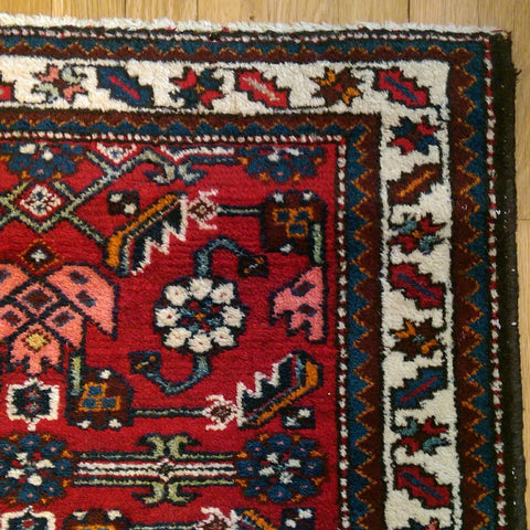 Persian Rug, 2' 6 x 3' 11 Red Hamedan