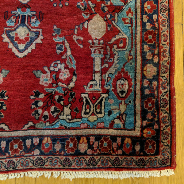 Persian Rug, 3' 4 x 5' 2 Red - Jessie's Oriental Rugs