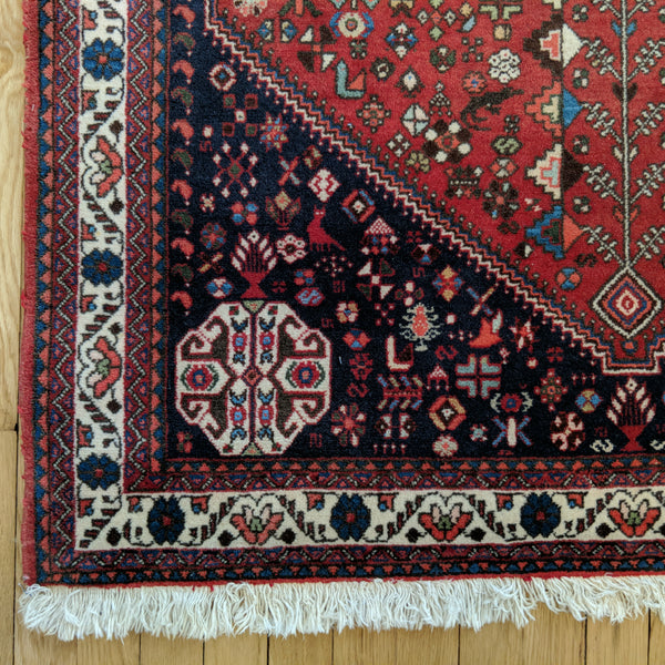 Copy of Vintage Rug, 3' 6 x 5' 4 Red - Jessie's Oriental Rugs