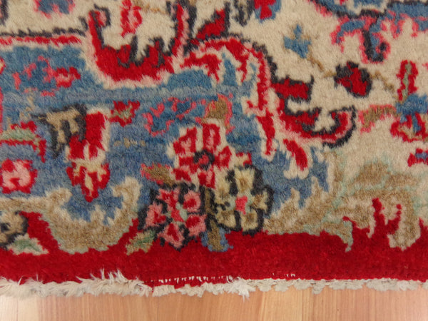 Persian Rug, 4' 1 x 6' Red Kazvin
