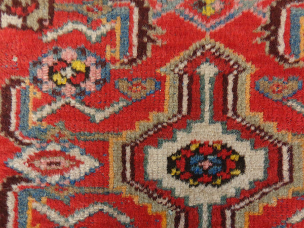 Persian Rug, 2' 4 x 4' 8 Red Hamedan
