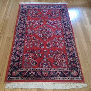 Indian Rug, 3' 1 x 5' 8 Red - Jessie's Oriental Rugs