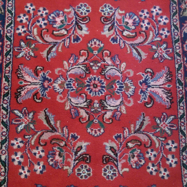 Indian Rug, 3' 1 x 5' 8 Red Tabriz
