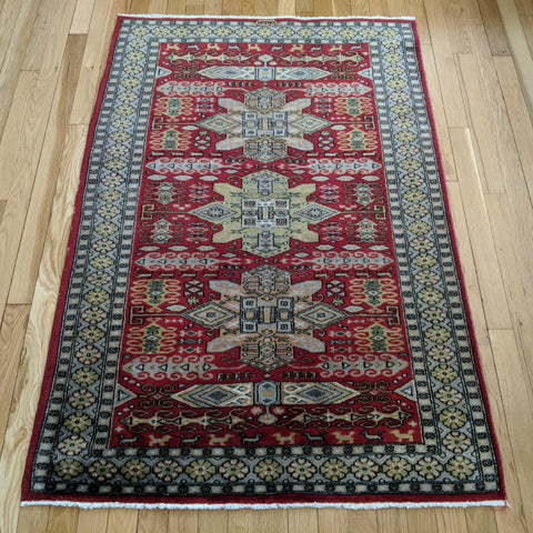Pakistan Rug, 3' 2 x 4' 8 Red